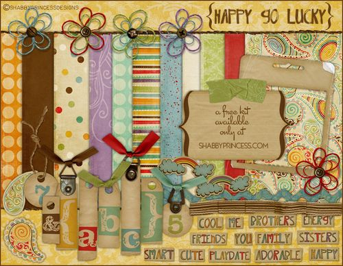Happy Go Lucky digital scrapbooking kit from Shabby Princess